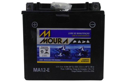 Bateria Para Moto MA12-e Original Moura
