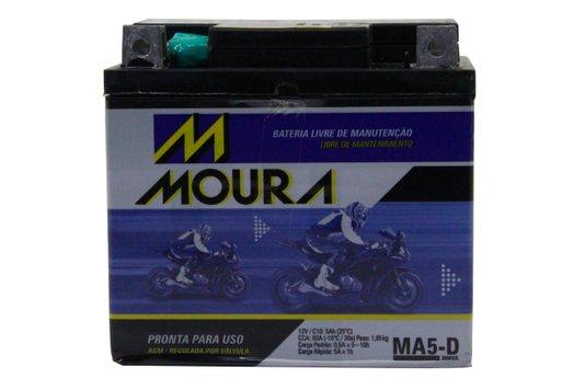 Bateria Para Moto MA5-d Original Moura