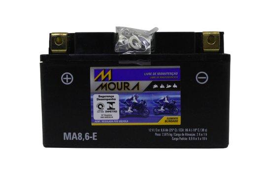 Bateria Para Moto MA8,6-e 12V Original Moura