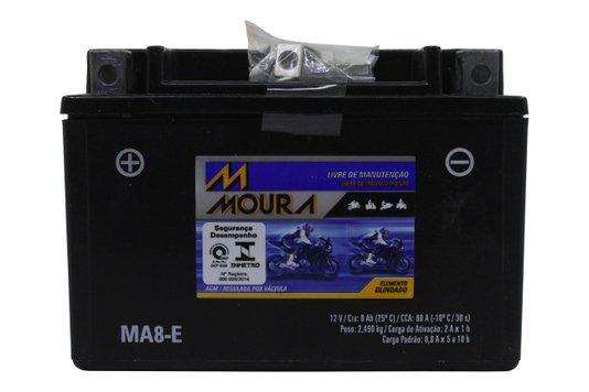 Bateria Para Moto MA8-e Original Moura