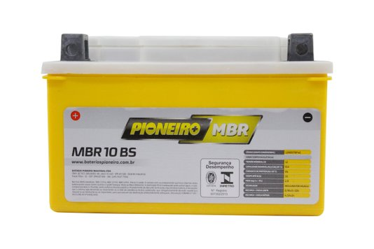Bateria Para Moto MBR10-BS Original Pioneiro