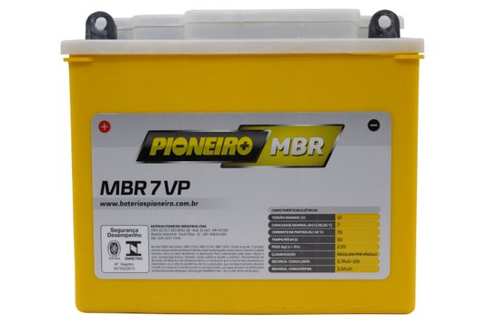 Bateria Para Moto MBR7-VP Original Pioneiro