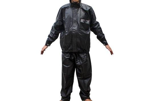 Capa De Chuva Moto Motoqueiro Alba PVC Preta