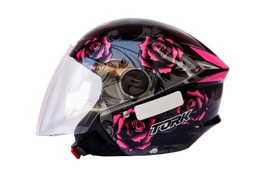 Capacete Aberto New Liberty 3 Floral Rosa Pro Tork
