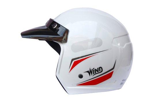 Capacete Aberto V3 Tecno Wind Branco Taurus