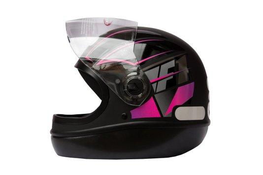 Capacete Formula 1 Neo Preto Fosco Com Rosa Taurus