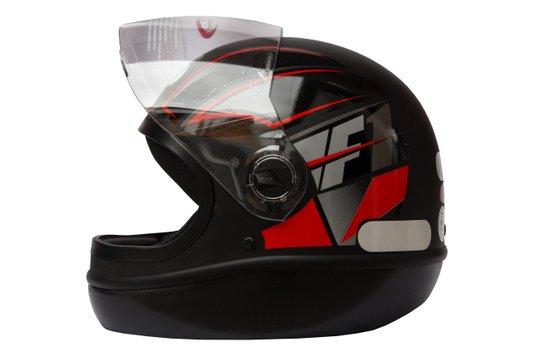 Capacete Formula 1 Neo Preto Fosco Com Vermelho Taurus