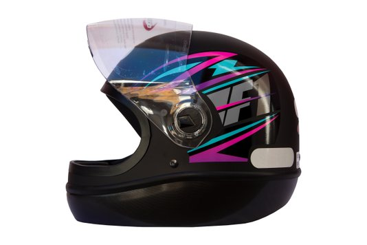 Capacete Formula 1 Storm Preto Fosco Com Rosa Taurus