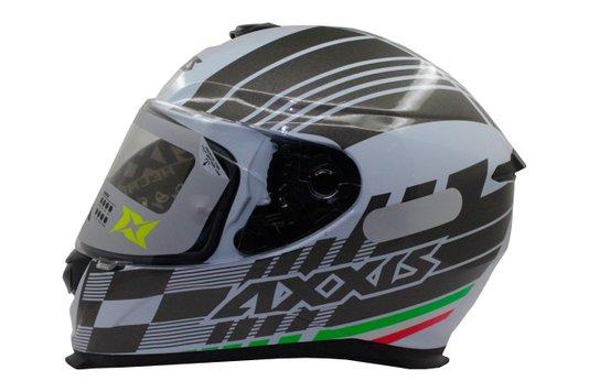 Capacete Moto Axxis Modelo Eagle Italy Gloss Branco