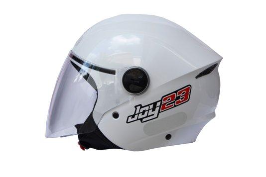 Capacete Open Face Joy23 Taurus Branco Tamanho 56