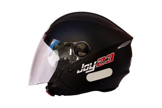 Capacete Open Face Joy 23 Taurus Preto Fosco