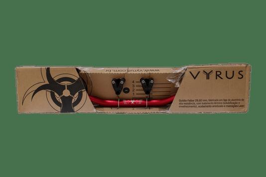 Guidão Vyrus 28,60 mm Fatbar Alto Vermelho