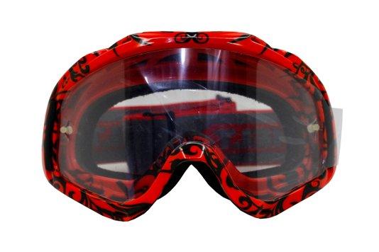 Óculos De Proteção Para Motocross Vermelho Helt