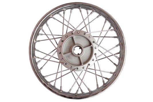 Roda Moto Completa Montada Cromada Traseira Biz 14 x 1.60